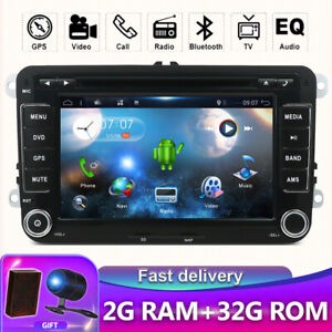 Autoradio pour VW Passat Golf Tiguan Android 10.0 GPS Navi Car DVD WIFI DAB USB