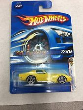 HOT WHEELS VHTF 2006 #7 FIRST EDITIONS SERIES 69 CORVETTE NEW On Card B16