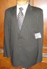 NWT MENS CLAIBORNE ESSENTIALS BLACK STRIPED SUIT SZ 42L  NEW K36