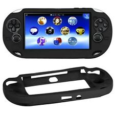 Black Soft Silicone Skin Protector Cover Case for Sony PS Vita Console PSP