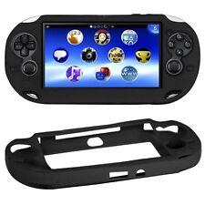 Noir Silicone Souple Peau Housse Coque Pour Sony PS Vita console PSP