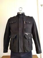 INC International Concepts Mens Jacket/Coat Black Wool Blend Lined Size M