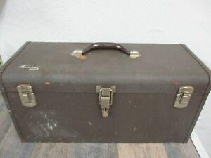 """Vintage Kennedy KITS  K20 Tool Box 20"""" Brown Wrinkle Machinist"""