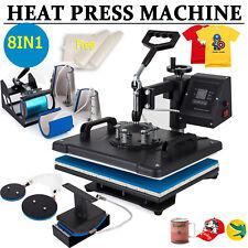 "New listing 8 in 1 Heat Press Machine Digital Transfer Sublimation T-Shirt Mug Cap 15"" x 12"""