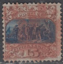 USA Scott #118 15ct Pictorial Type I Used CV $985