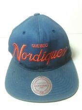 Quebec Nordiques Mitchell & Ness Snapback Hat Cap Blue Red NHL Hockey
