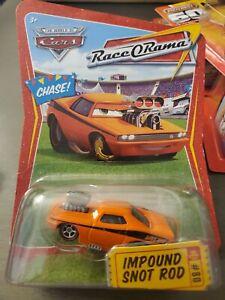 Disney Pixar Cars Race O Rama Impound Snot Rod Chase Rare