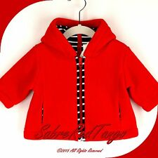 NWT HANNA ANDERSSON LITTLE GNOME BABY FLEECE JACKET APPLE RED 60 2-6 M