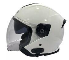 Viper Casco de moto scooter RS V10 Bluetooth Blanco Medio de cara abierta