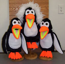 Large Blacklight Penguin Puppet Trio-ministry, bird, aquatic, sealife,......
