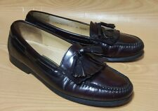 Cole Haan Mens Loafers Tassel 11 D Burgundy Leather Shoes