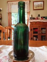 Dr J G B Siegert & Sons Bitters bottle from 1890's. Beautiful dark green color