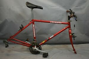 "1994 Schwinn Crossfit City Hybrid Bike Frame Set 19"" Large Shimano Steel Charity"