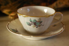 MAGNIFICENT NYMPHENBURG OLD & RARE CABINET DEMITASSE CUP & SAUCER BLUE FLOWERS