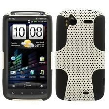 HTC SENSATION 4G T-MOBILE SPORTY HYBRID 2-TONE CASE WHITE/BLACK