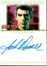STAR TREK NEMESIS AUTOGRAPH CARD RA6 OF JACK DONNER AS SUBCOM TAL