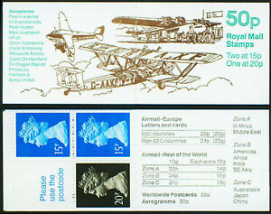 Great Britain Booklet 50p Armstrong Whit  BK254 SG FB55