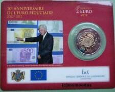 Luxemburg 2 Euro Gedenkmünze 2012 Euro-Bargeld TYE CoinCard commemorative BU