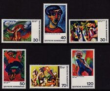 W Germany 1974  Expressionist Paintings SG 1688-1693 MNH
