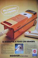 PUBLICITÉ DE PRESSE 1979 - LE HOOVER ASPIRATEUR TRAINEAU S 4090 - ADVERTISING