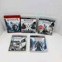Assassins Creed 1 2 3 4 Ezio Trilogy Rogue Brotherhood Revelations PS3 Lot