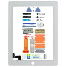 ACENIX® Apple iPad 2 White Outer Front Glass Screen Replacement Repair Kit