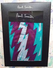 "Paul Smith Mens Underwear Trunk Zig-Zag Print Jade Purple Size XL UK 36-38"" BNIB"