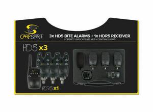 Carp Spirit HD5 Alarm + HDR5 Receiver *2 & 3 Rod Sets* NEW Carp Fishing Alarm