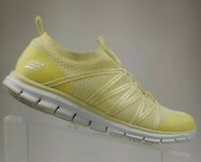 Skechers Dual Lite Memory Foam Womens Shoes Size 10 Wide Fit yellow White