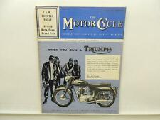 July 1960 THE MOTORCYCLE Magazine Triumph 650 Thunderbird OHV Twin L8134