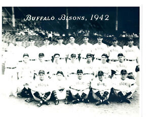 1942 BUFFALO BISONS 8X10 TEAM PHOTO BASEBALL NEW YORK