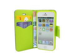 style Livre étui de portable pochette accessoires en BLEU-VERT POUR IPHONE 5/