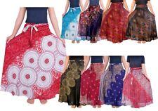 Long Maxi Bohemian Boho Gypsy Gothic Skirt Comfy Soft Rayon Fabric Hippy Style