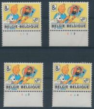 TINTIN**4 Planches 1 à,4-KUIFJE-Plaatnummers 1tot 4-BELGIQUE-1979-COMICS-STRIPS