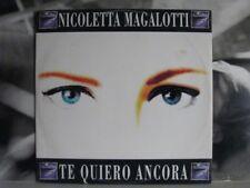 """NICOLETTA MAGALOTTI - TE QUIERO ANCORA + RIPARTO DA ZERO 12"""" MIX VG+/EX- '92 IRA"""