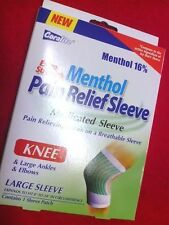 CORALITE EXTRA STRENGTH MENTHOL PAIN RELIEF SLEEVE KNEE/LG ANKLES/ELBOWS LARGE