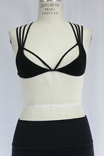 New Free People Womens Seamless Black Strappy Crisscross Bralette Bra Xs/S $28