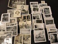 Vintage mostly 1950s-Set of (70) Original Black-White Amateur Snapshot Photos.
