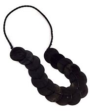 Shell Black Necklace 34cm