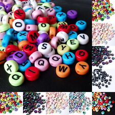 Acrylperlen Buchstabenperlen Kunststoffperlen Buchstaben Perlen 7mm 300 Stück