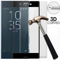 3D Full Cover Tempered Glass Screen Protector For Sony Xperia XZ2   XA1 Ultra