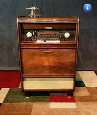 """Metz """"Little Boy"""" Tube Stereo/Radio/Record Console Serviced & Bluetooth Ready"""