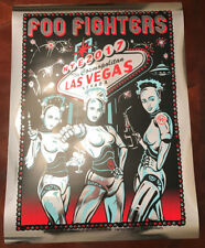 Foo Fighters Poster- FOIL Lithograph Ltd Ed Las Vegas New Years Eve 2017 RARE