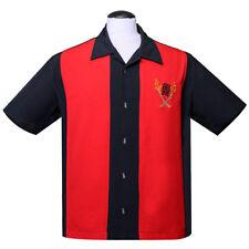 Steady Clothing Rockabilly Vintage Bowling Shirt Hemd - Tropical Itch Rot Tiki