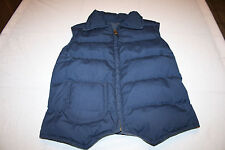 Eddie Bauer Goose Down Insulated Blue Corduroy Reversible Vest Small
