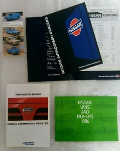 Datsun & Nissan bundle of 4 Sales Brochures 1981-1995 Cars, Vans, Pick-ups