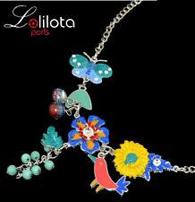 Luxury Statement Necklace Lolilota Paris Enamel Crystal Howlite Turquoise
