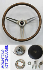 1964-1966 Pontiac Grand Prix LeMans Wood Steering Wheel Walnut 15 inch
