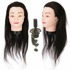 "Salon 22"" Hair Mannequin Practice Training Head Hairdressing & Clamp Train"