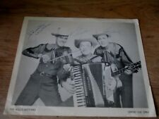 GRAND OLE OPRY THE WILLIS BROTHERS  autographs